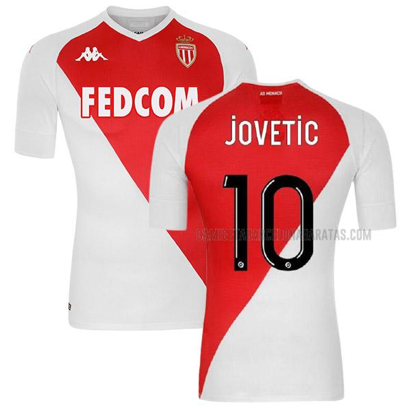 camiseta jovetic 1ª equipación del as monaco 2020-2021