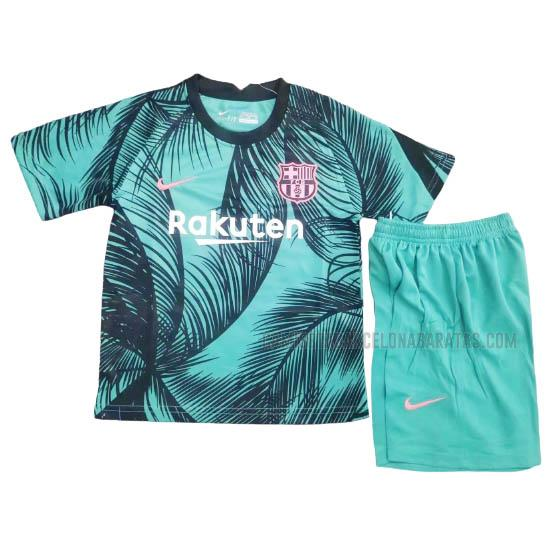 camiseta niños champions league pre-match barcelona 2020-2021