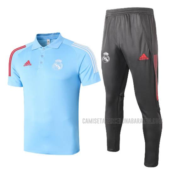 camiseta polo y pantalones real madrid azul 2020-2021