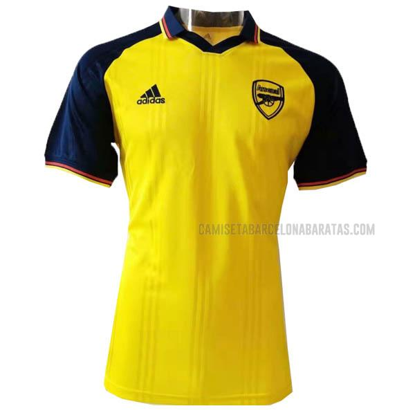 camiseta retro del arsenal amarillo 2019-20