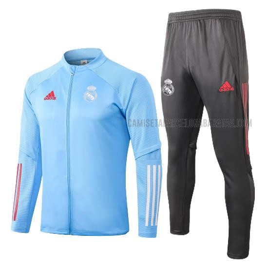 chaqueta real madrid azul 2020-2021