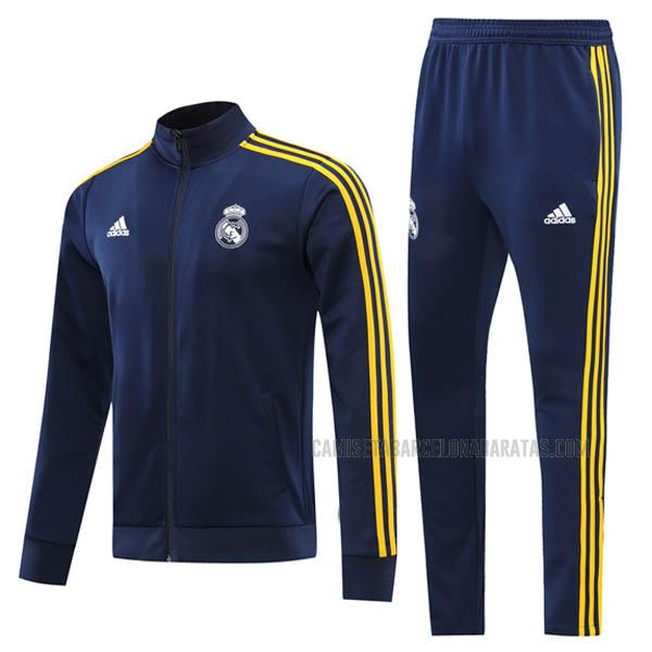 chaqueta real madrid azul amarillo 2021
