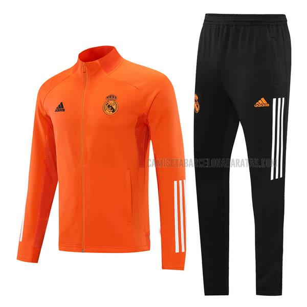 chaqueta real madrid naranja 2020-2021