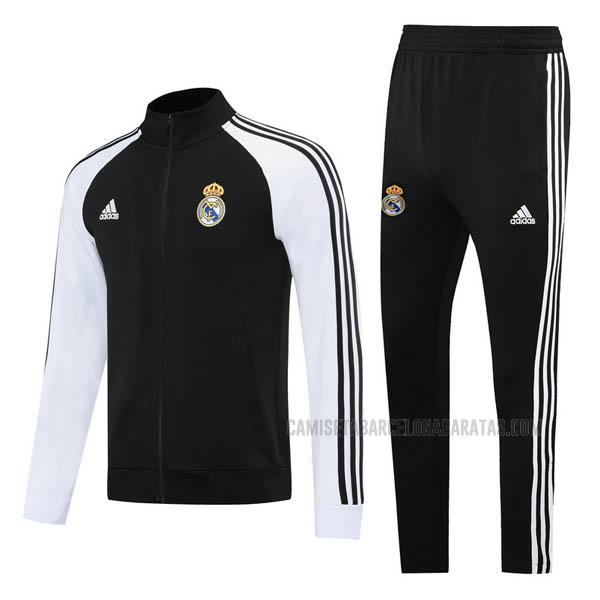 chaqueta real madrid negro-blanco 2020
